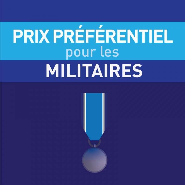 Programme de prix préférentiels pour les militaires