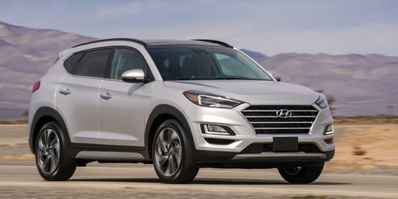 Devant du Hyundai Tucson 2020 argent