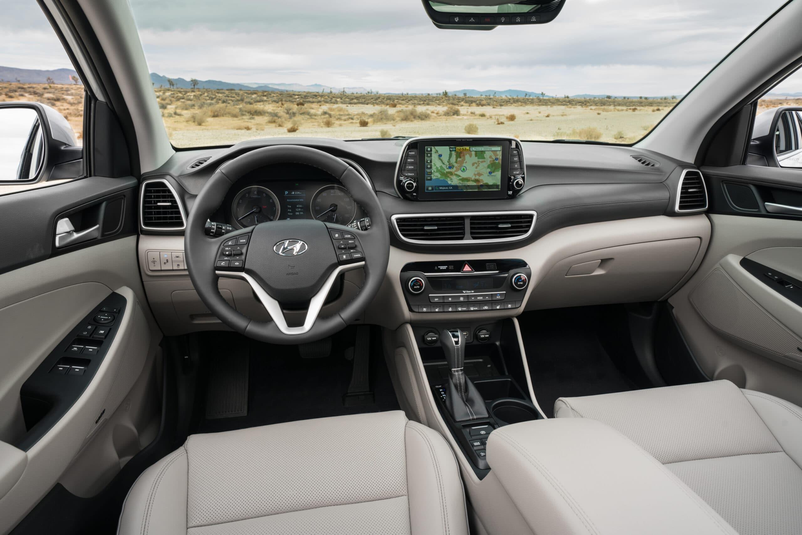 Intérieur du Hyundai Tucson 2020